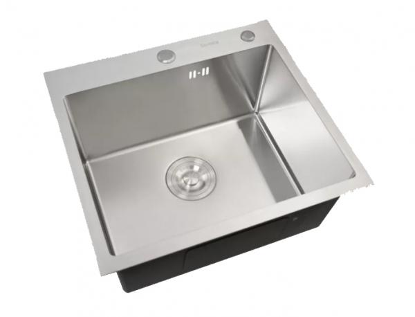 Купить Кухонная мойка «Platinum» Handmade 500*500 мм. Доставка по Украине. Дилерская цена.