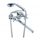 Смеситель для ванной двуручковый QFU-827